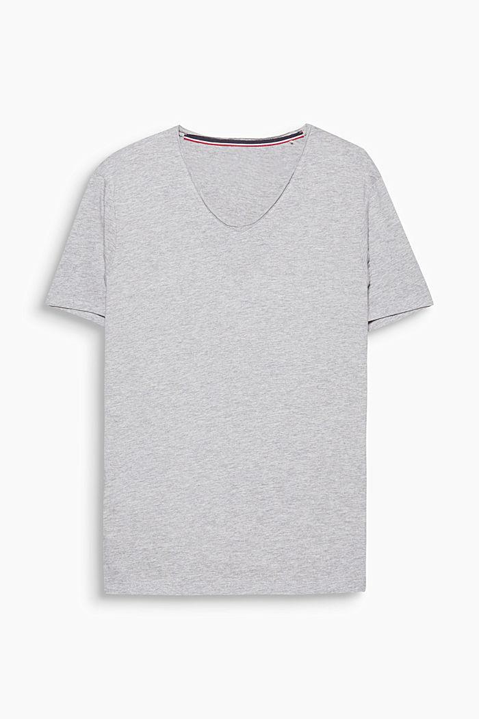 Jersey shirt made of organic cotton, MEDIUM GREY, detail image number 0