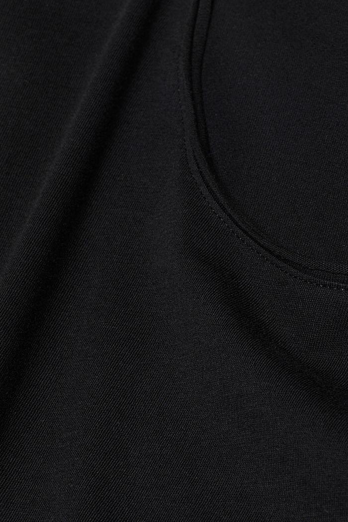 Jersey cotton top, BLACK, detail image number 4