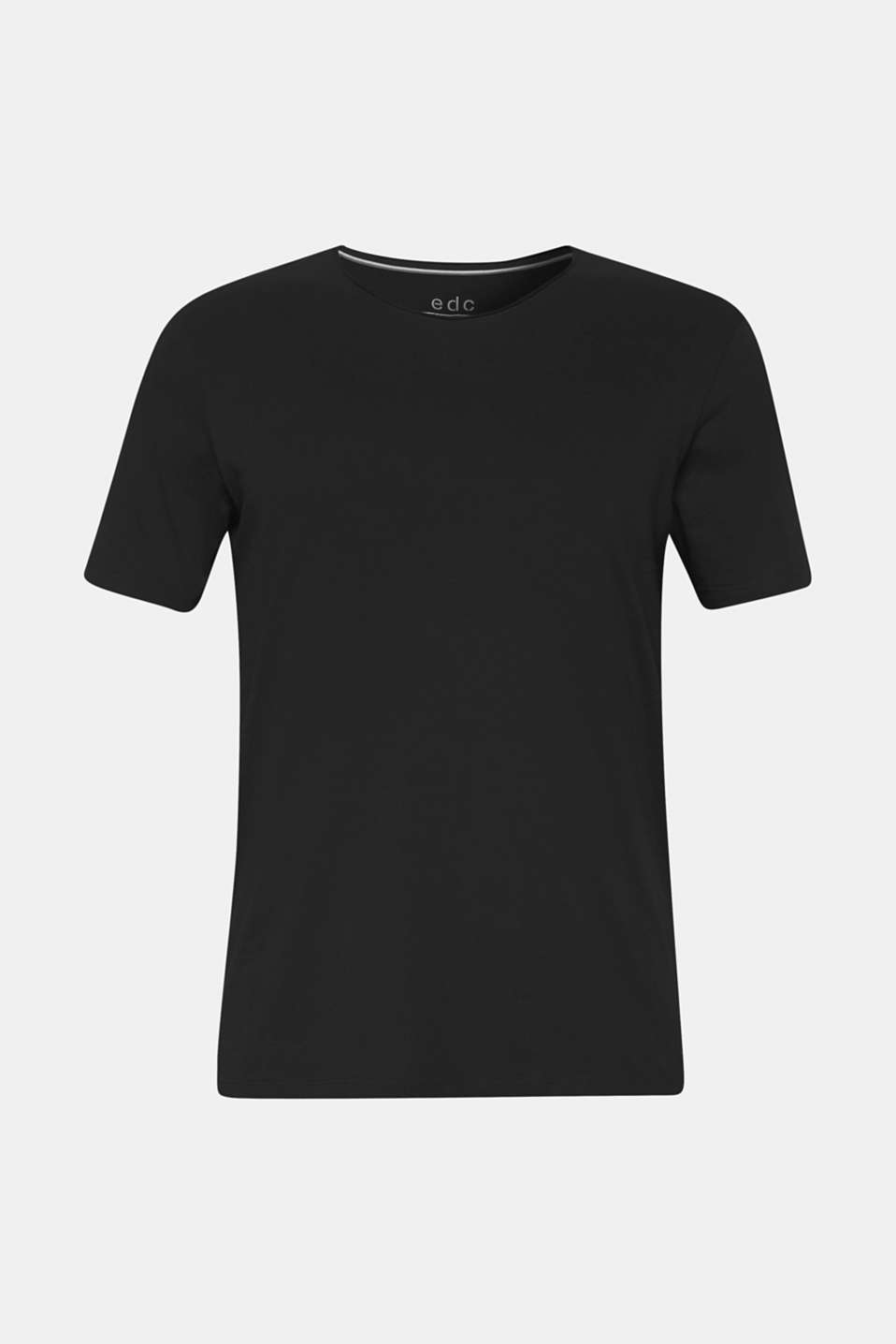 Jersey T-shirt in 100% cotton, BLACK, detail image number 6