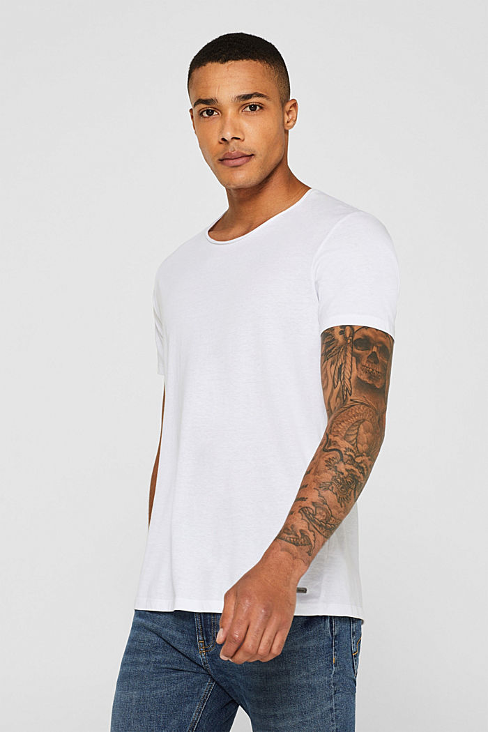 Jersey cotton top, WHITE, detail image number 0