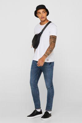 Jersey cotton top, WHITE, detail