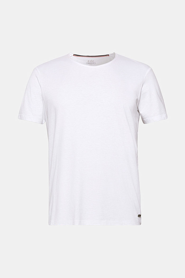 Jersey cotton top, WHITE, detail image number 5