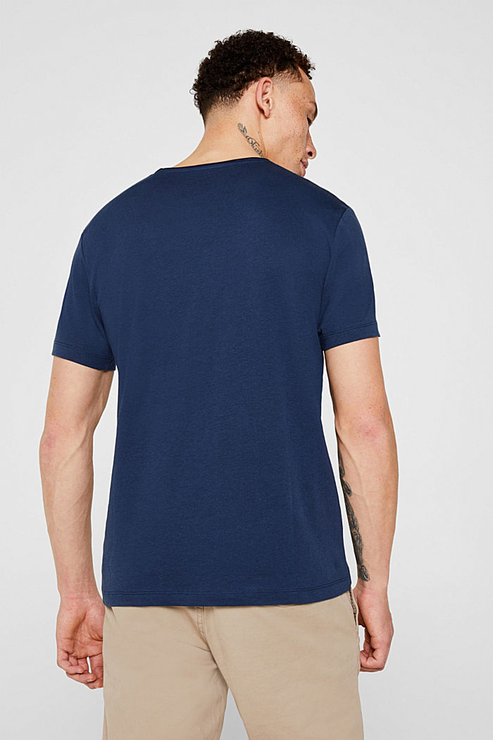 Jersey cotton top, NAVY, detail image number 3