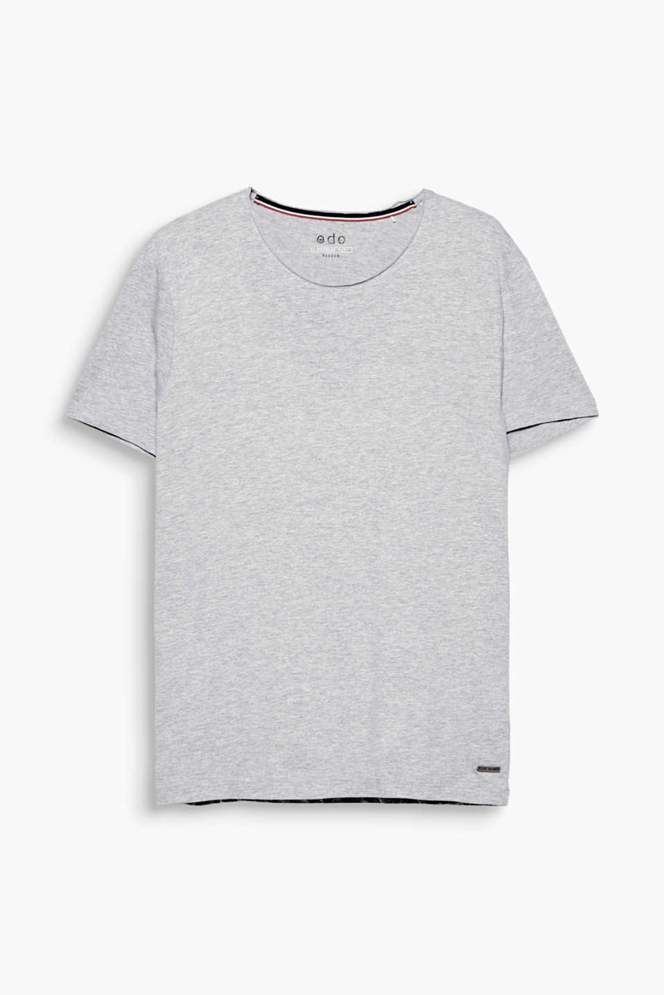 Your fashion basic: T-shirt with round neckline made of environmentally friendly, premium organic cotton.