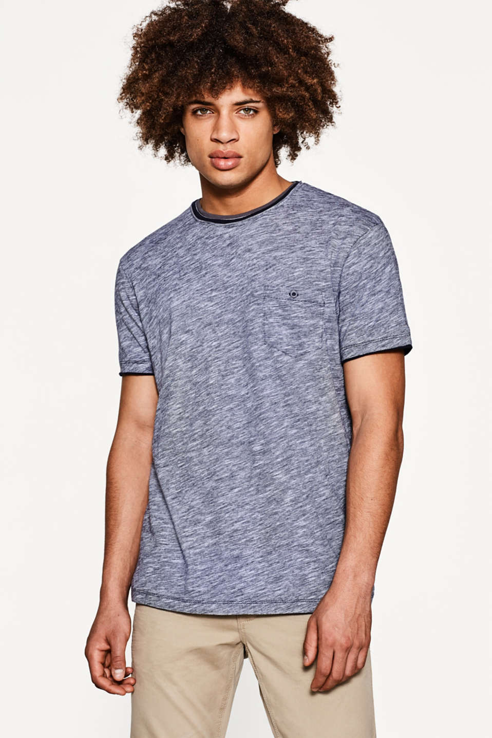 edc - Layered-effect jersey T-shirt