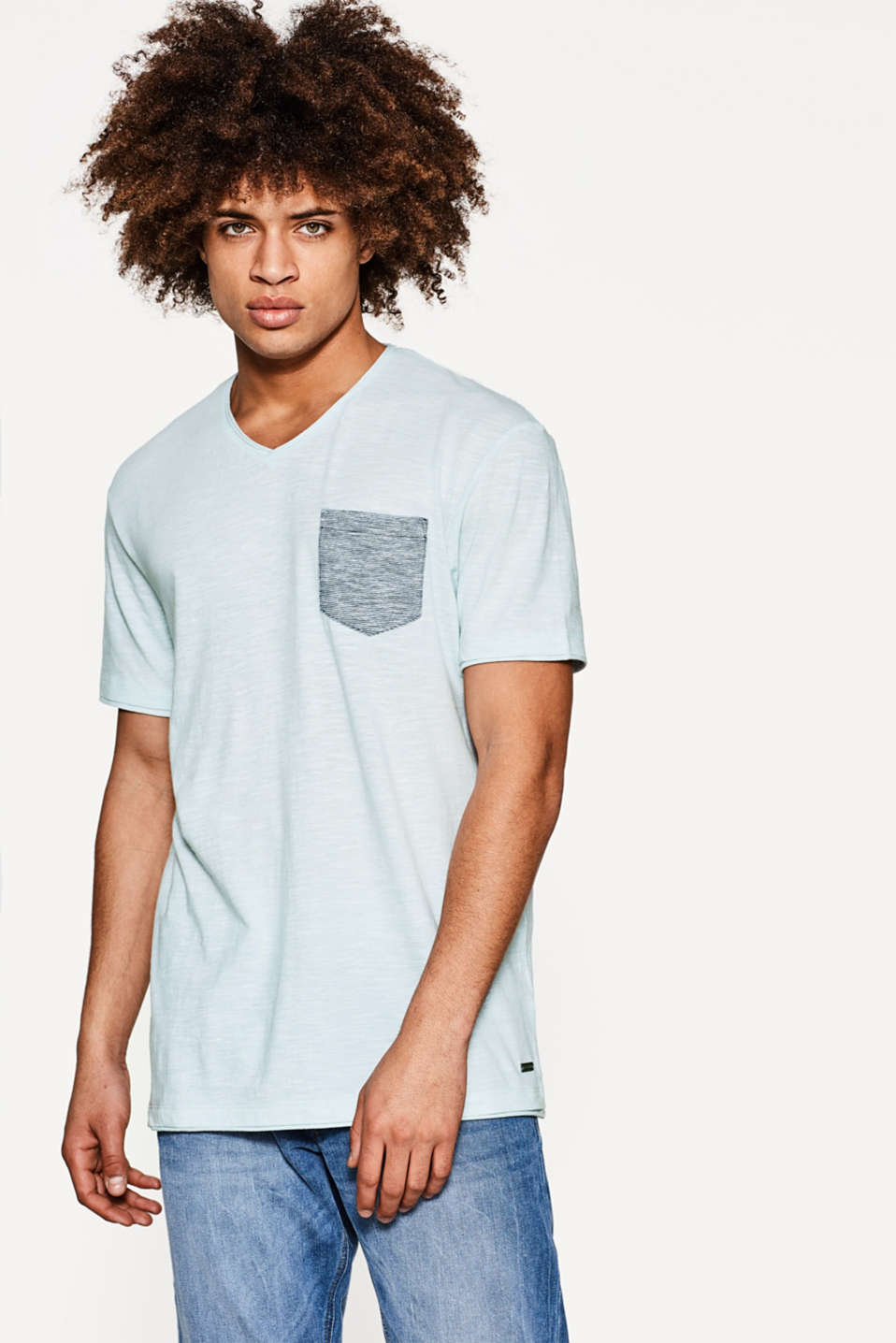 edc - Slub jersey T-shirt in cotton