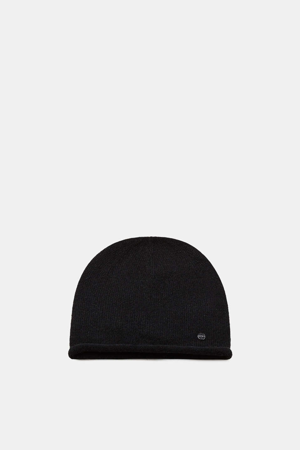 Esprit - Wool mix: blended mohair beanie with a rolled edge