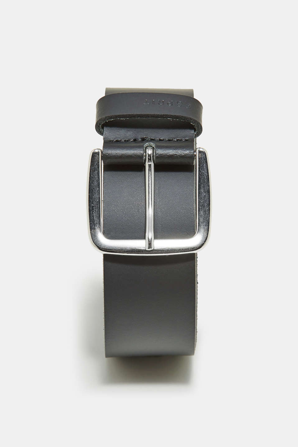 Esprit - Leather belt with a distinctive metal buckle