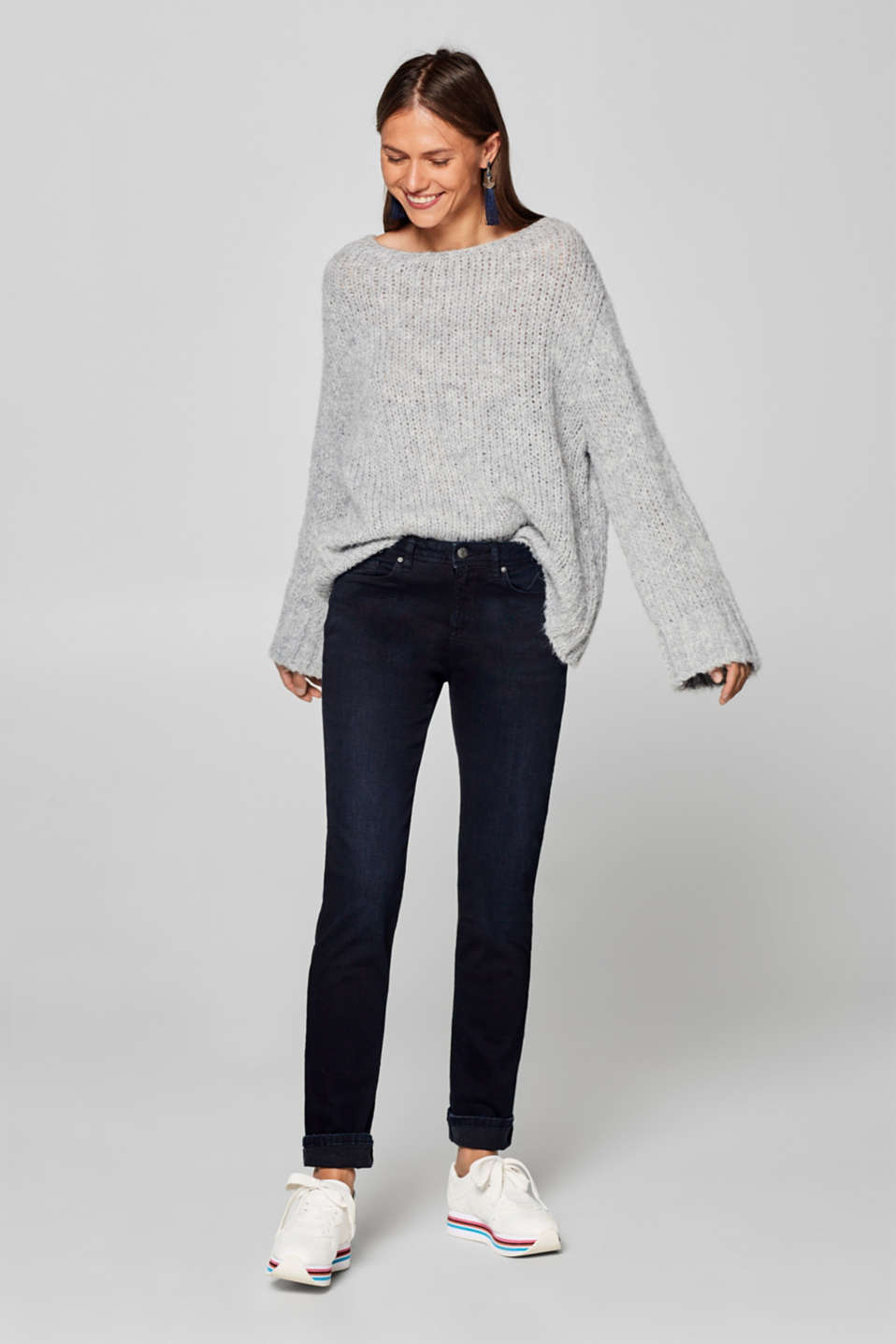Esprit - Superstretch-Jeans mit Organic Cotton