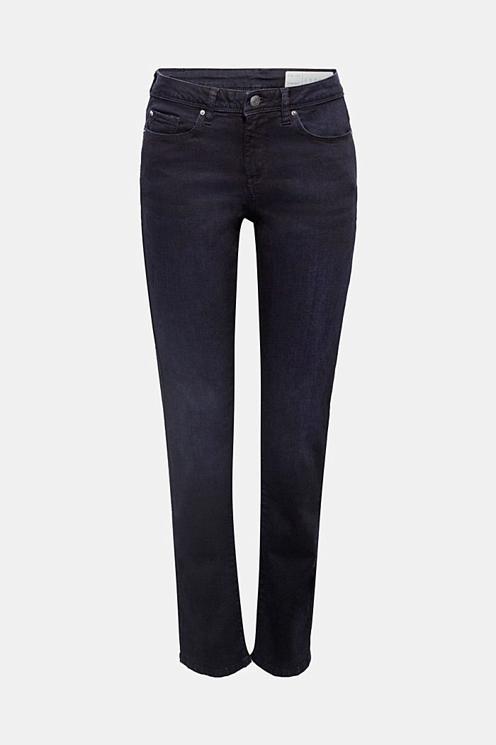 Jeans super stretch con cotone biologico, BLUE RINSE, detail image number 0