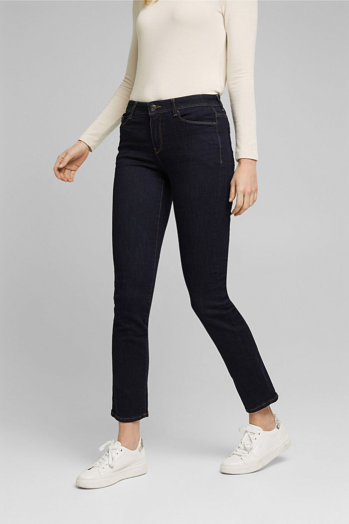 Super stretch jeans made of organic cotton, BLUE RINSE, detail image number 0
