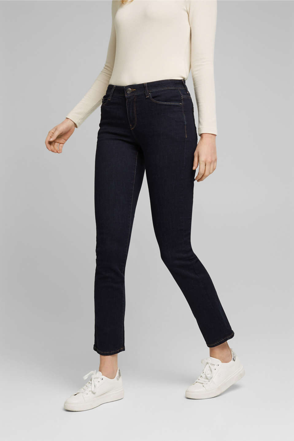 Esprit - Super stretch jeans made of organic cotton