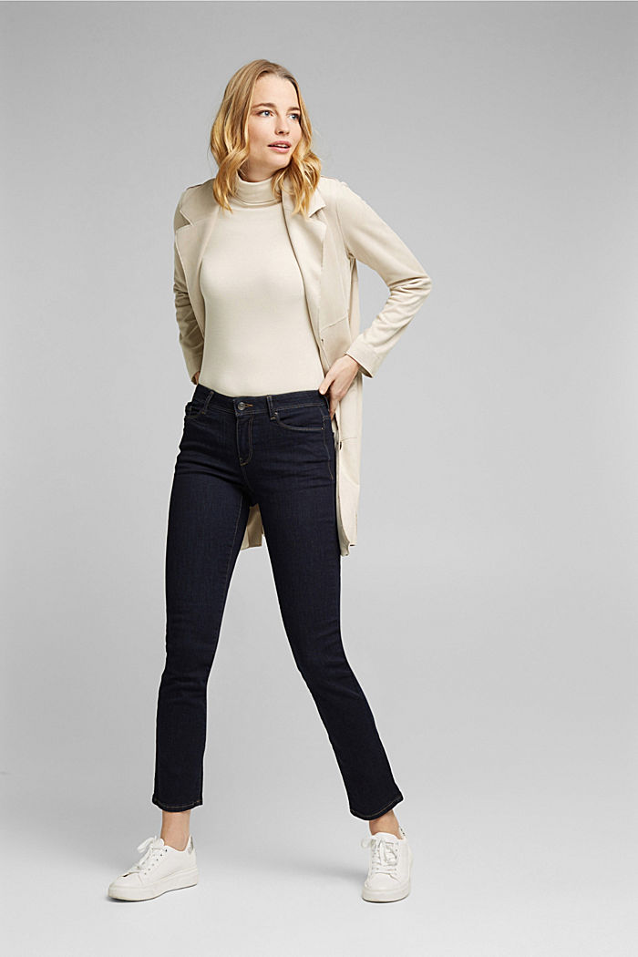 Super stretch jeans made of organic cotton, BLUE RINSE, detail image number 1