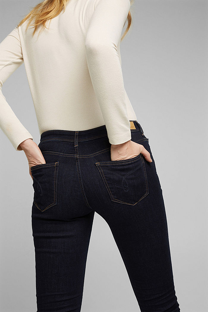 Super stretch jeans made of organic cotton, BLUE RINSE, detail image number 5