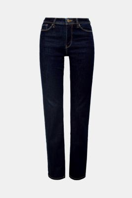 Super stretch jeans with organic cotton, BLUE RINSE, detail