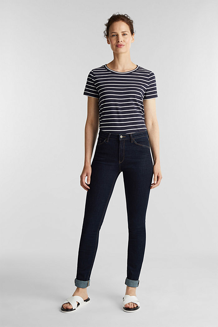 Stretch jeans with organic cotton, BLUE RINSE, detail image number 1
