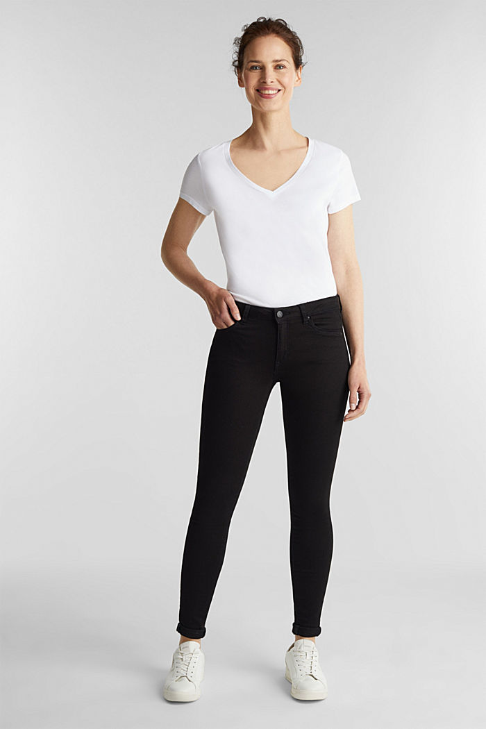 Stretch-Jeans aus Organic Cotton, BLACK, detail image number 5