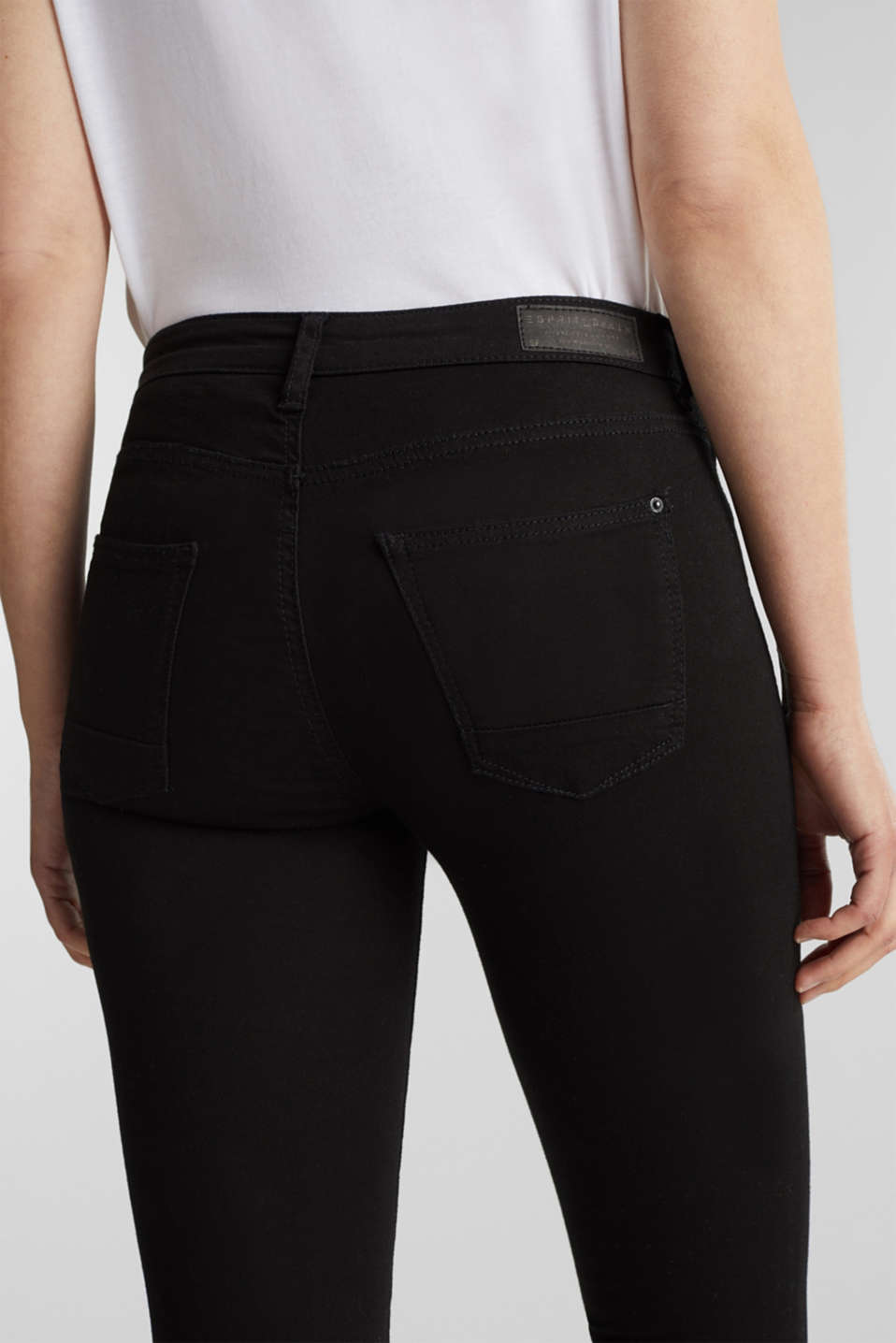 Stretch jeans in organic cotton, BLACK, detail image number 2