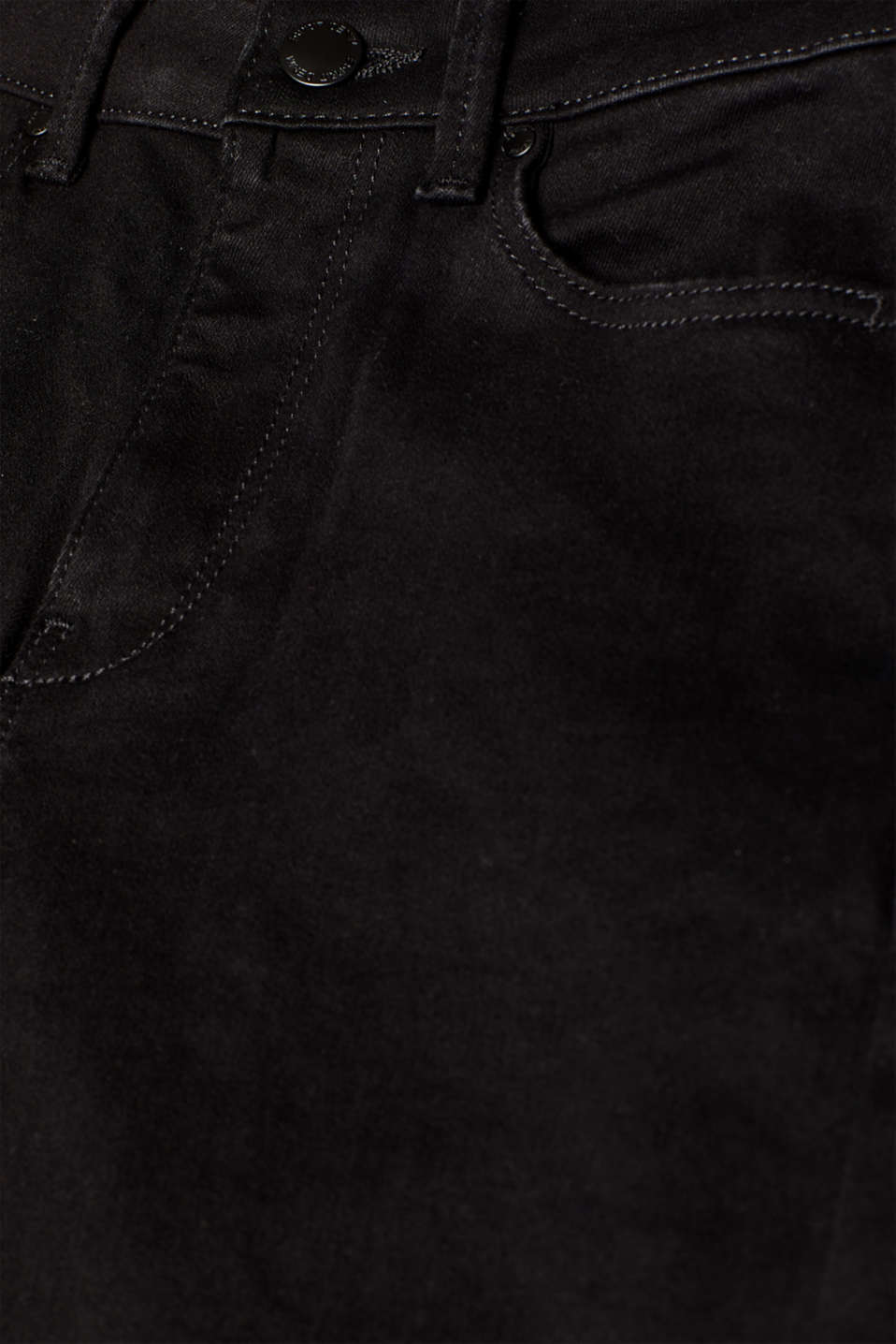 Shaping jeans in jet black denim, recycled, BLACK RINSE, detail image number 3
