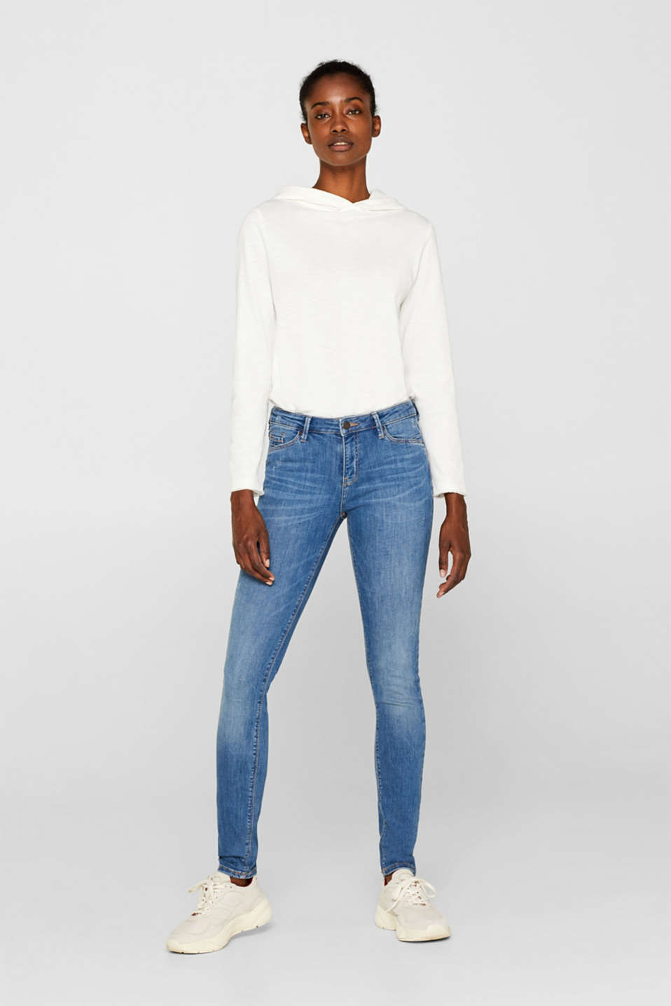 Esprit - Stretch jeans with vintage effects, recycled