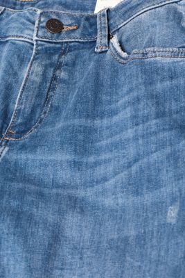 Stretch jeans with vintage effects, recycled, BLUE LIGHT WASH, detail
