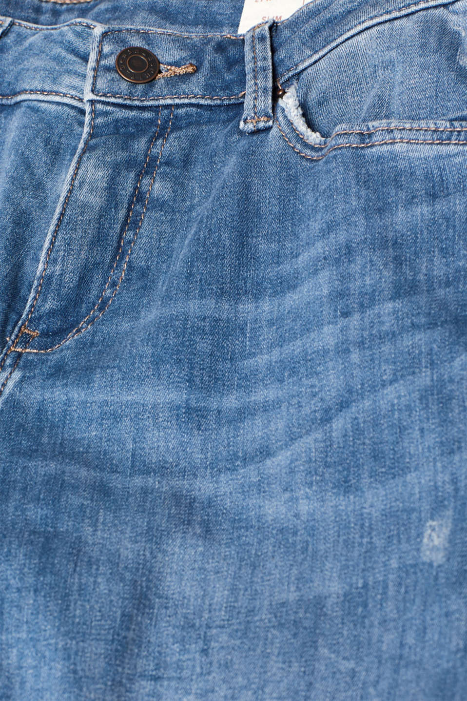 Stretch jeans with vintage effects, recycled, BLUE LIGHT WASH, detail image number 4