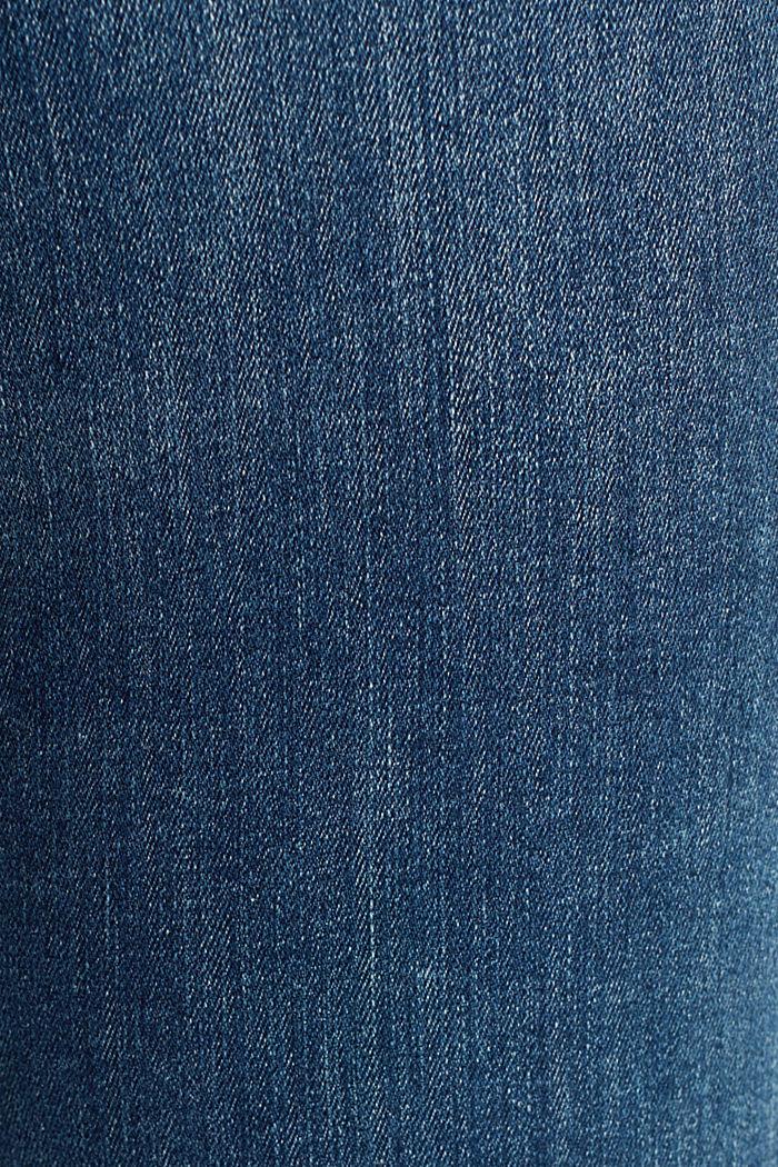 Stretchfarkut luomupuuvillaa, BLUE DARK WASHED, detail image number 4