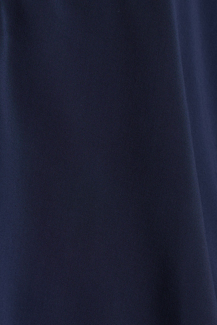 Henley blouse met oprolbare mouwen, NAVY, detail image number 4