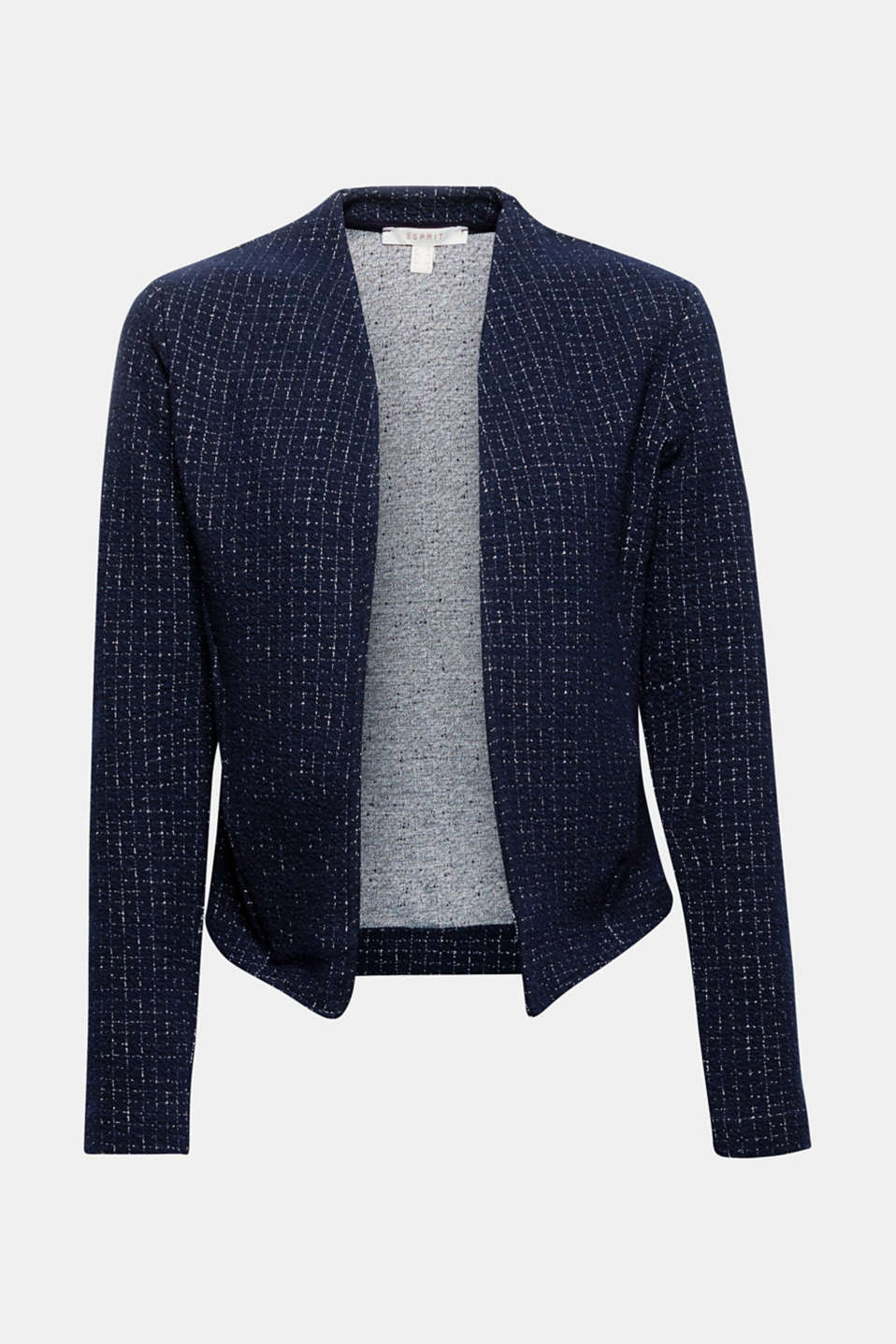 Jackets indoor knitted, NAVY, detail image number 8