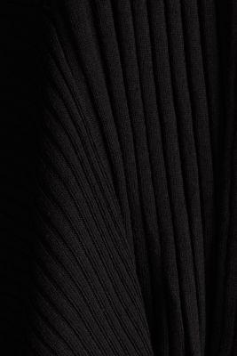 Open ribbed cardigan, BLACK, detail