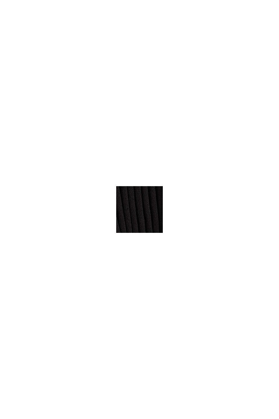 Riciclato: cardigan aperto a coste, BLACK, swatch
