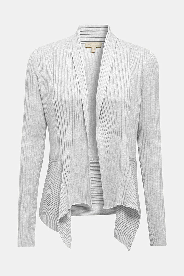 Recycelt: offener Ripp-Cardigan, LIGHT GREY, detail image number 2