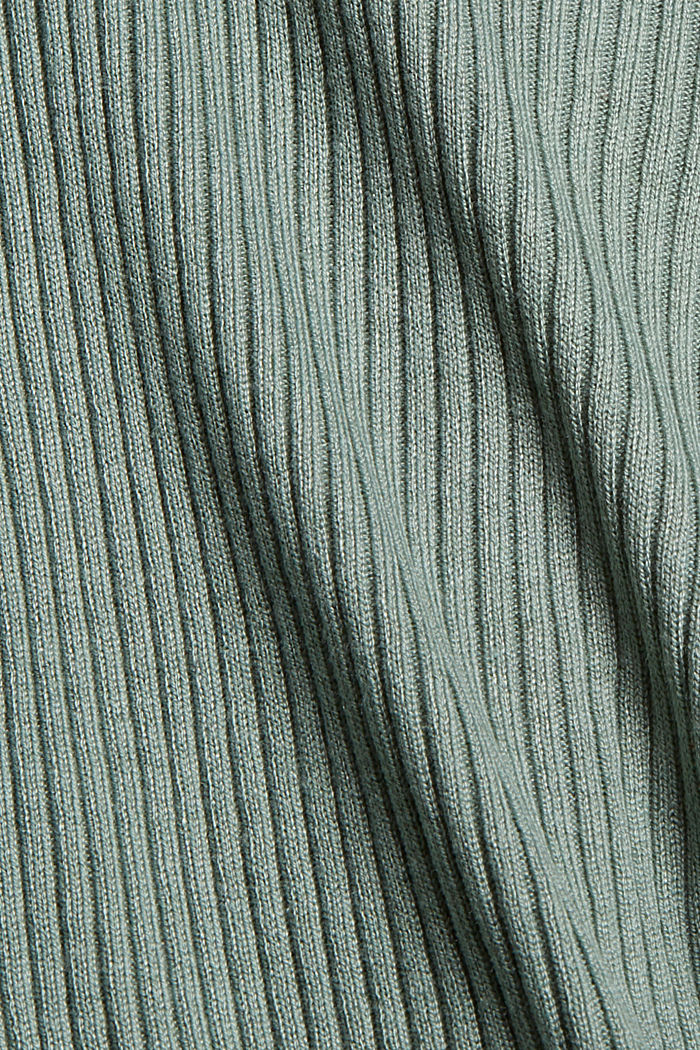 Recycelt: offener Ripp-Cardigan, DUSTY GREEN, detail image number 4