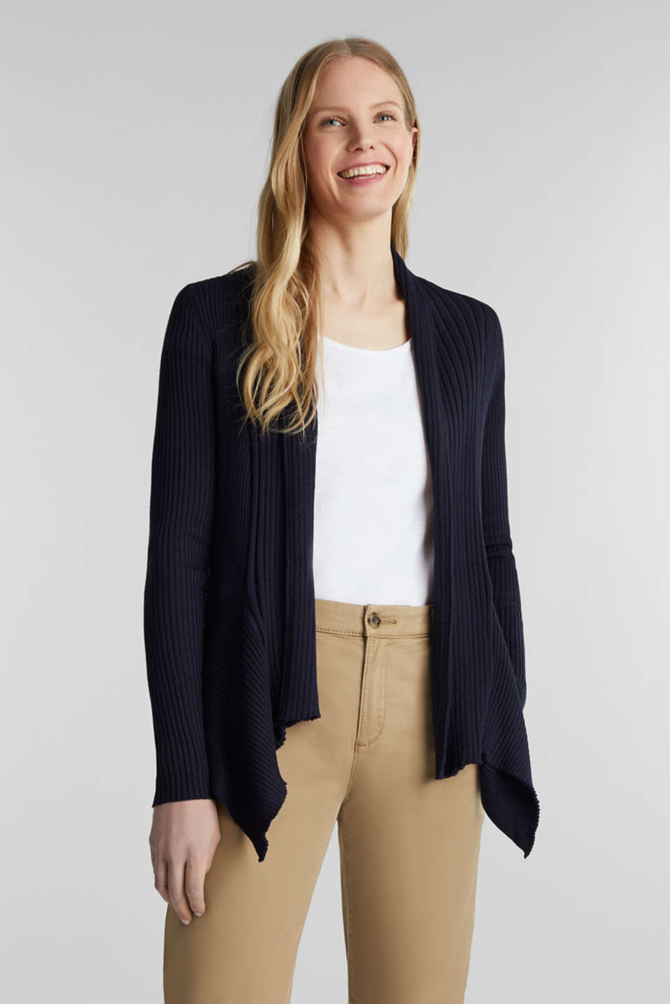 Esprit - Open ribbed cardigan