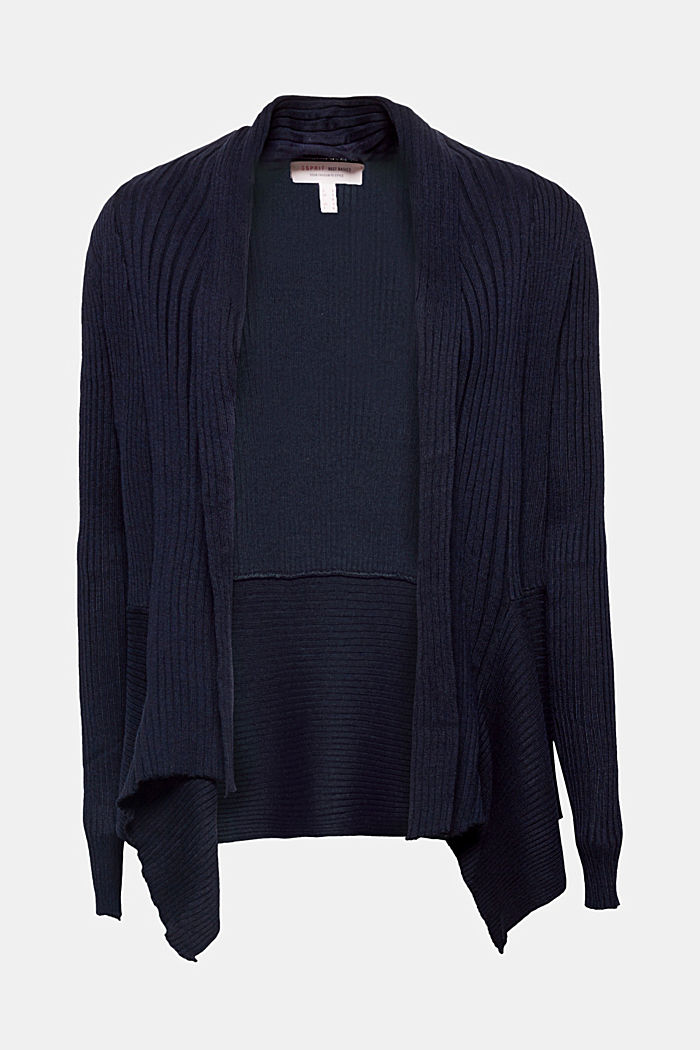 Recycelt: offener Ripp-Cardigan, NAVY, detail image number 2