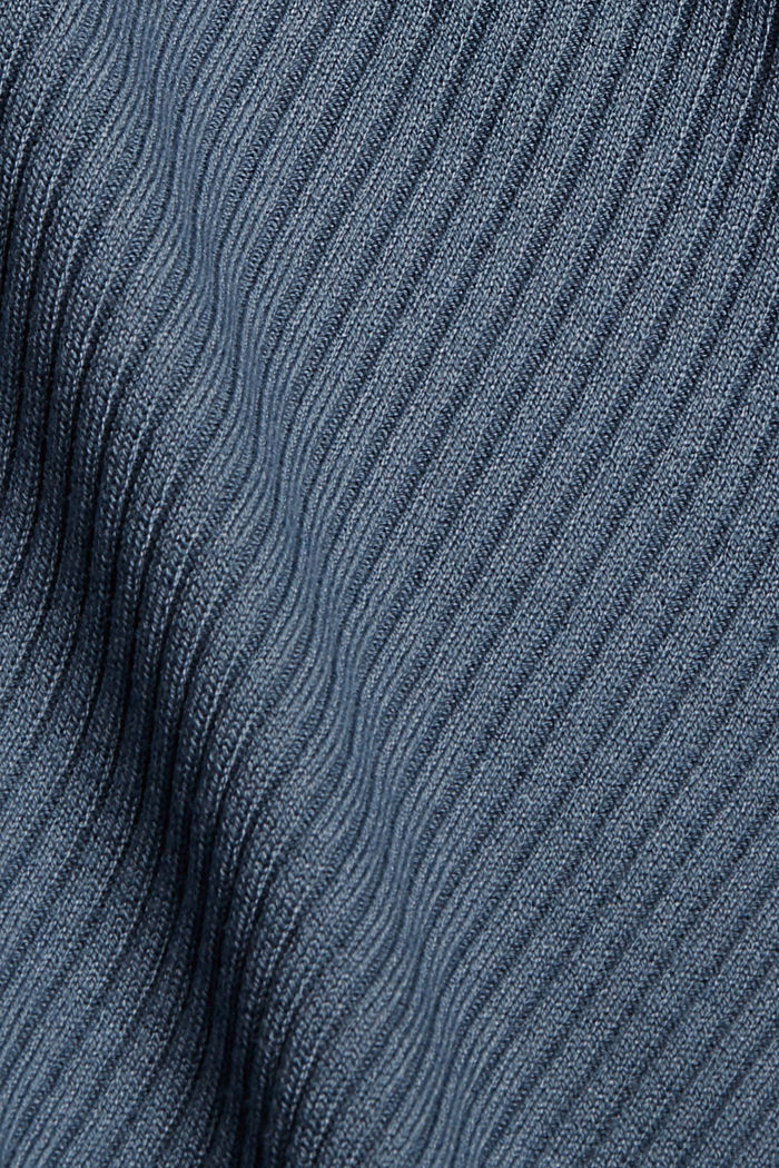 Recycelt: offener Ripp-Cardigan, GREY BLUE, detail image number 4