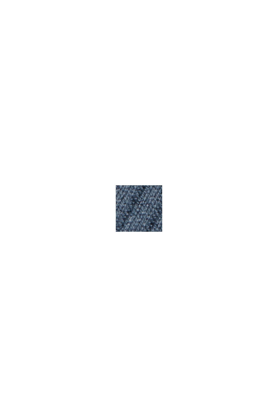 Recyclé: le cardigan en maille côtelée à la coupe ouverte, GREY BLUE, swatch