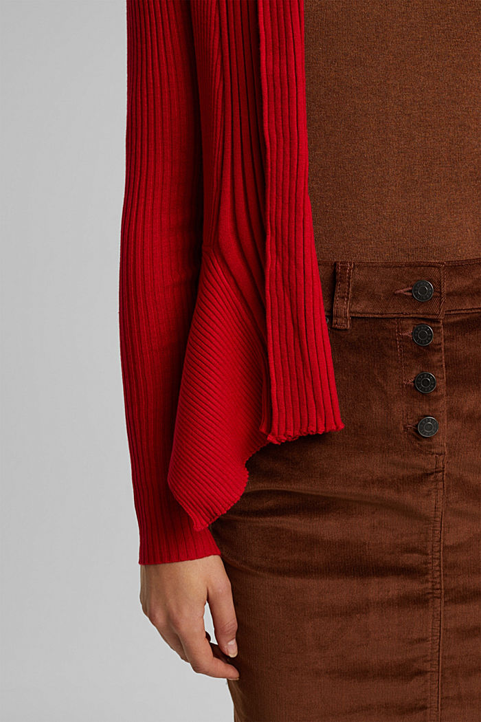 Recycelt: offener Ripp-Cardigan, RED, detail image number 2