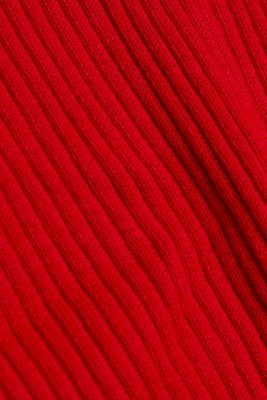 Open ribbed cardigan, RED, detail