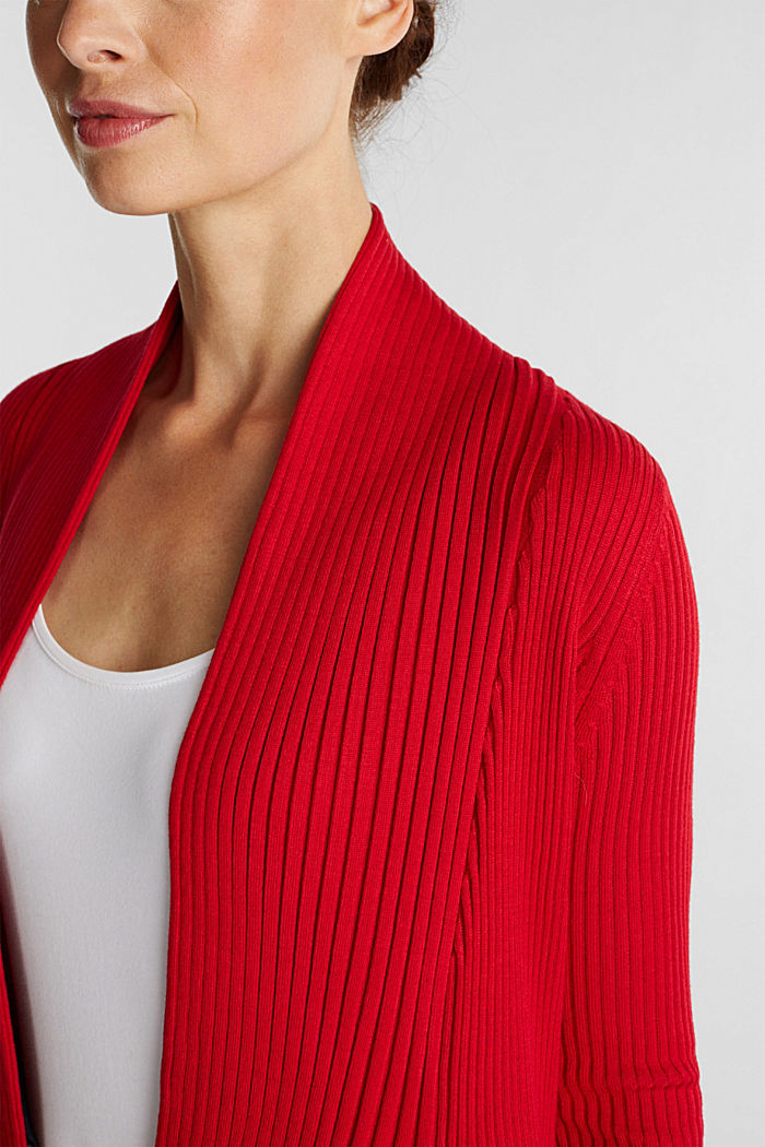 Recycelt: offener Ripp-Cardigan, NEW RED, detail image number 2