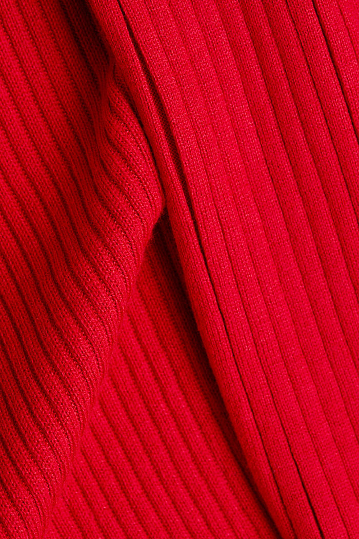 Recycelt: offener Ripp-Cardigan, NEW RED, detail image number 4