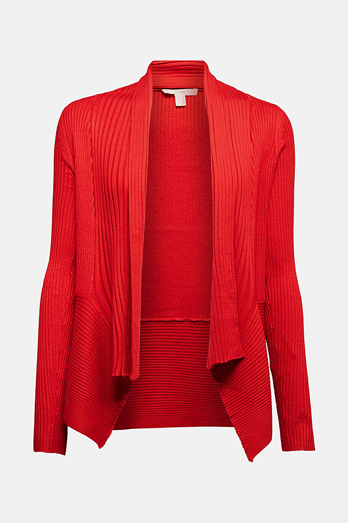 Recycelt: offener Ripp-Cardigan, NEW RED, detail image number 6
