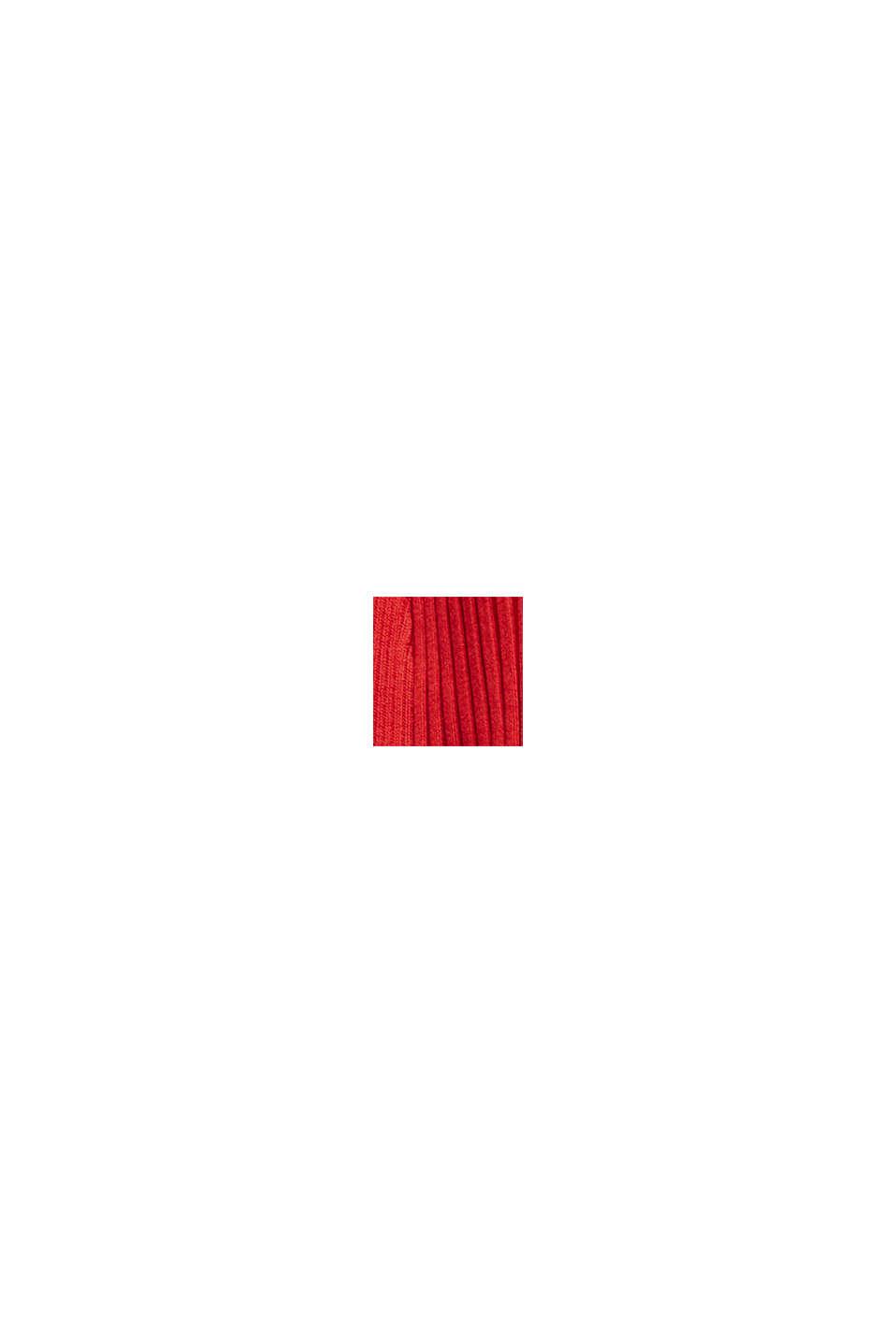 Recyclé: le cardigan en maille côtelée à la coupe ouverte, NEW RED, swatch