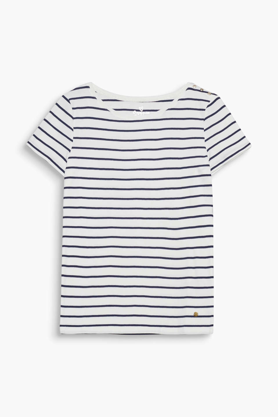 This striped T-shirt made of environmentally friendly, premium organic cotton is an indispensable basic!