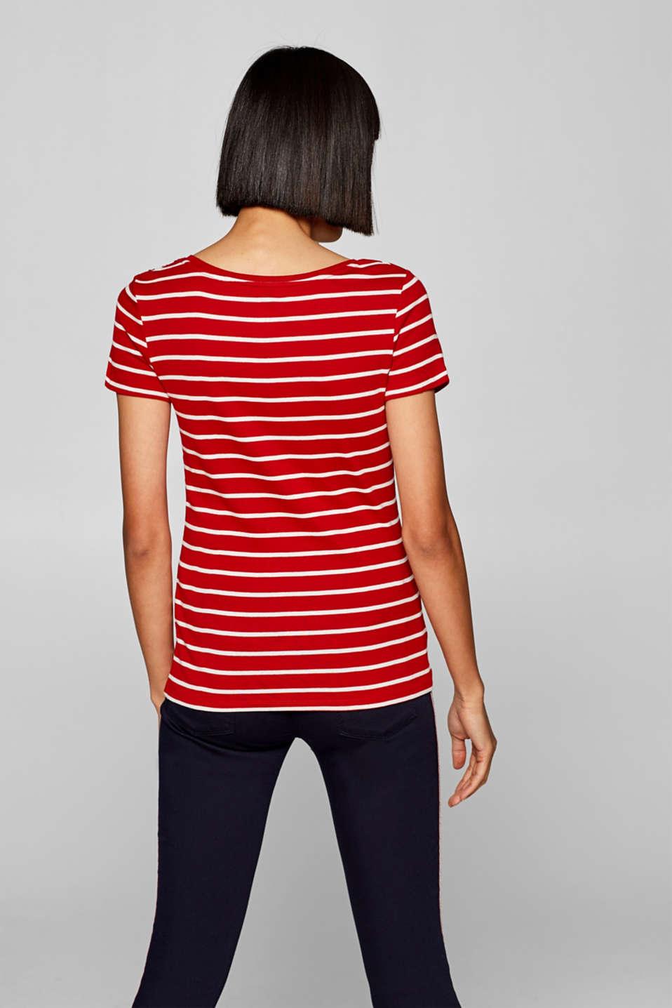 T-Shirts, DARK RED 3, detail image number 3