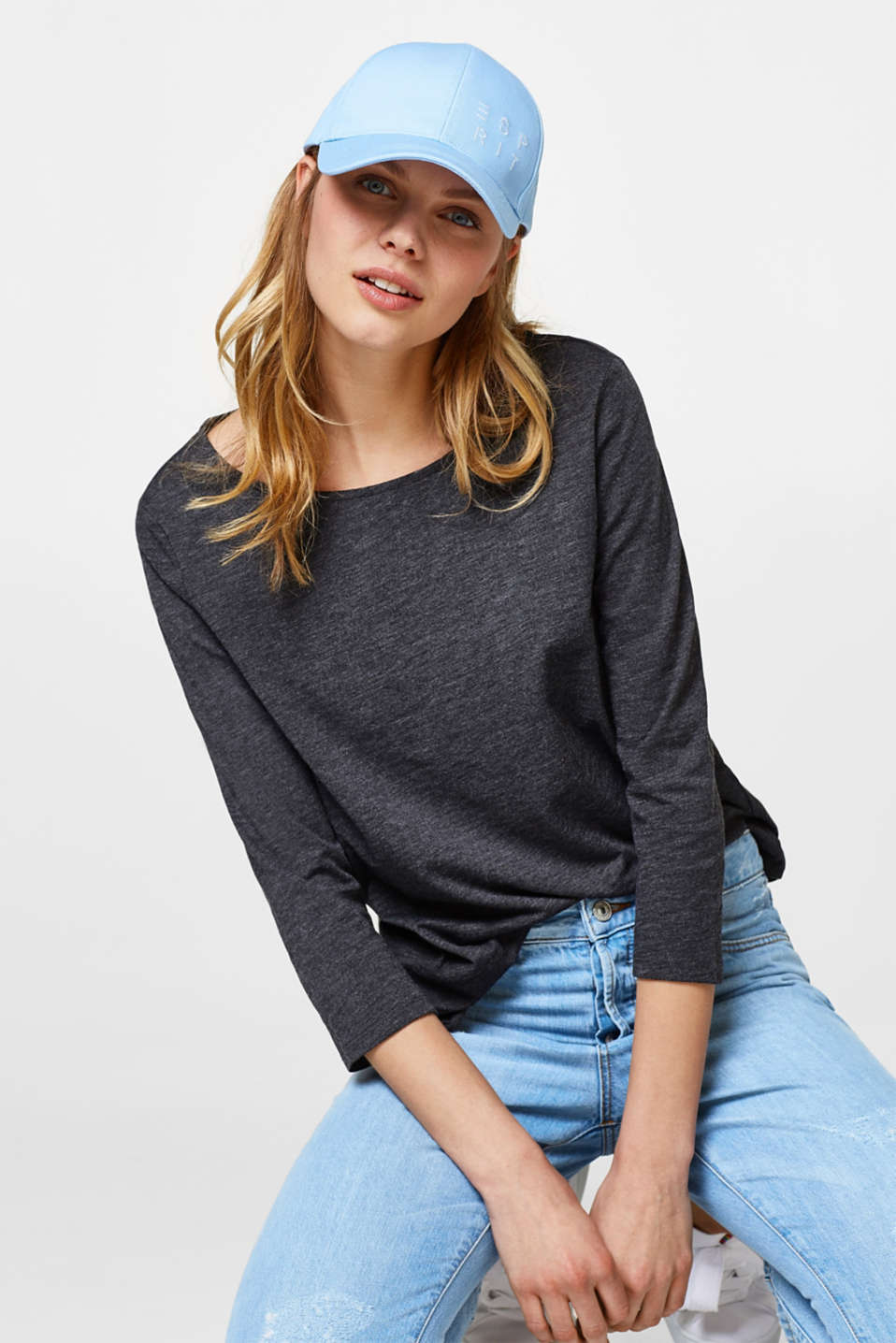 Esprit - Casual basic top in organic cotton