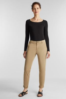 Basic long sleeve top with stretch, BLACK, detail