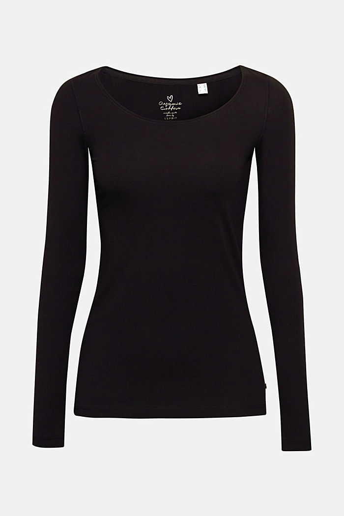 Basic long sleeve top with stretch