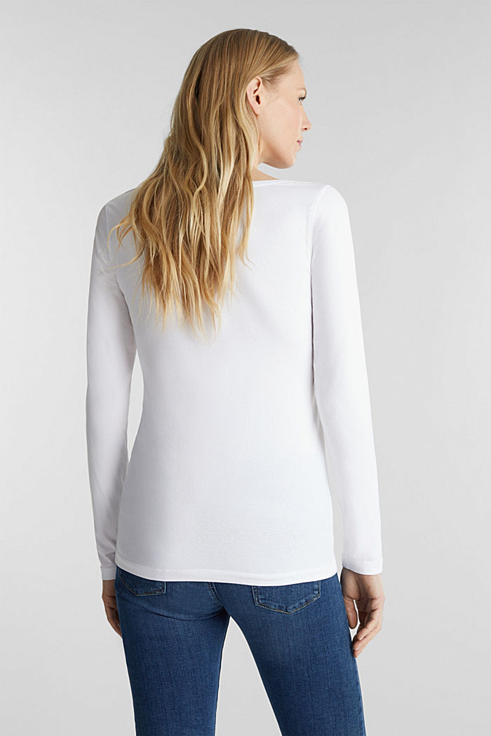 Basic-Longsleeve mit Stretch, WHITE, detail image number 3