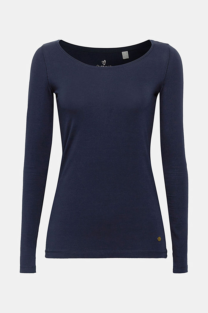 Basic-Longsleeve mit Stretch, NAVY, detail image number 5